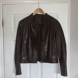 DANIER Vintage brown genuine leather jacket (M)